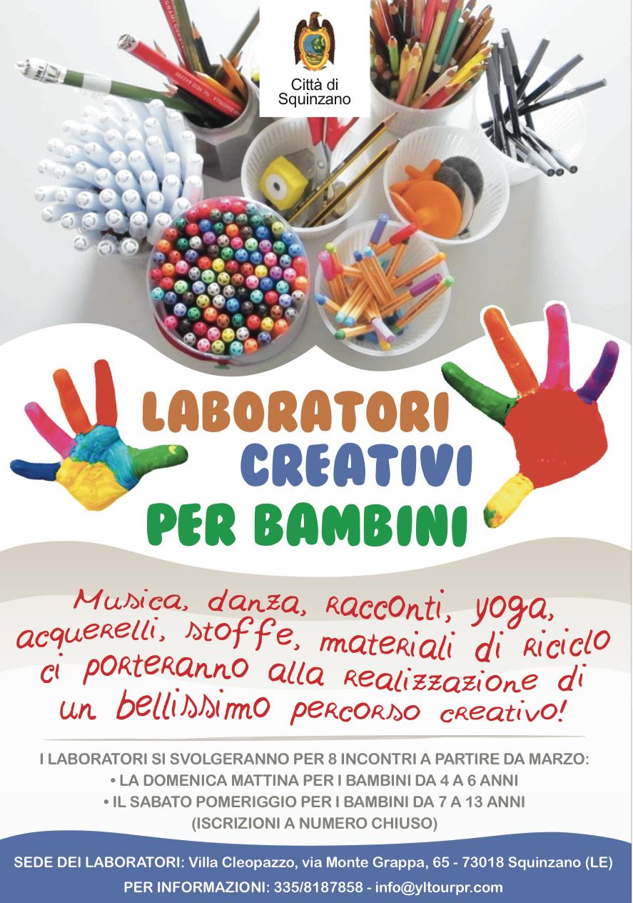 Squinzano Senza Frontiere Laboratori Creativi Per Bambini